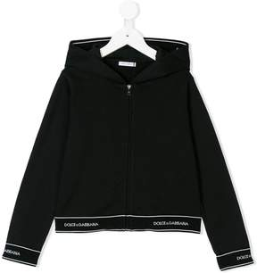 Dolce & Gabbana zipped hooded jacket