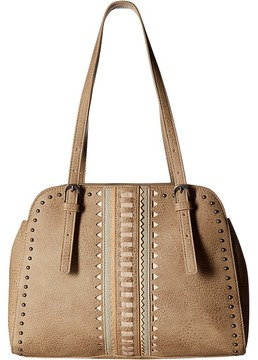 American West El Dorado Multi Compartment Satchel Tote Tote Handbags