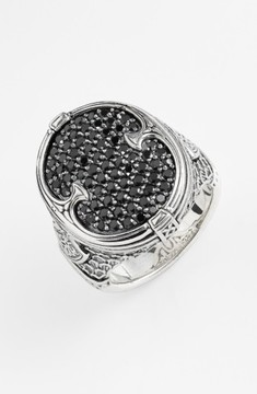 Konstantino Men's 'Plato' Pave Etched Ring