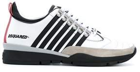 DSQUARED2 Men's White/black Leather Sneakers.