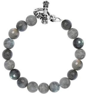 King Baby Studio Men's Labradorite Bead Bracelet