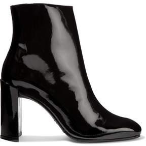 Stuart Weitzman Vigor Patent-leather Ankle Boots - Black