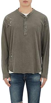 NSF Men's Distressed Cotton Henley Top