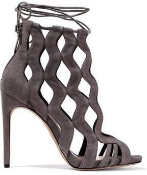 Alexandre Birman Loretta Cutout Suede Sandals