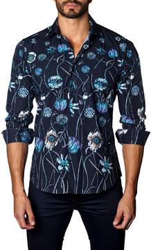 Jared Lang Men's Blossom Cotton Sportshirt