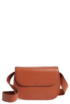 Steven Alan Shane Calfskin Leather Saddle Bag - Brown