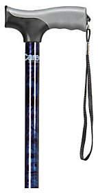 Carex Soft Grip Cane-Designer Blue