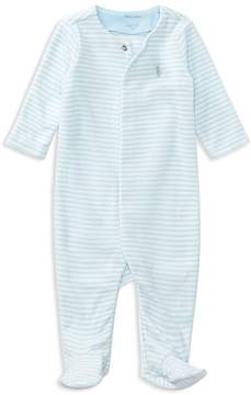 Ralph Lauren Childrenswear Boys' Striped Velour Footie - Baby