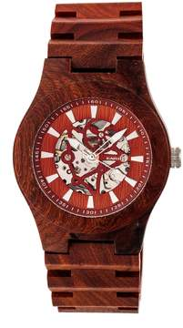 Earth Gobi Automatic Red Dial Watch