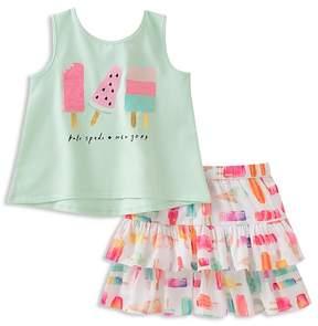 Kate Spade Girls' Ice Pop Print Tank & Skirt Set - Little Kid