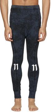 11 By Boris Bidjan Saberi Blue Marbled Leggings
