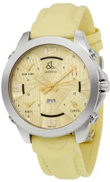 Jacob & co Jacob and Co. Five Time Zone Yellow Dial Men's Watch