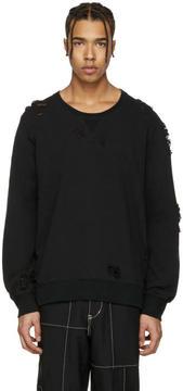 Miharayasuhiro Black Distressed Pullover