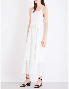 Claudie Pierlot Rosee hammered satin maxi dress