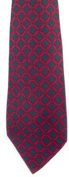 Hermes Hexagon Rope Print Silk Tie