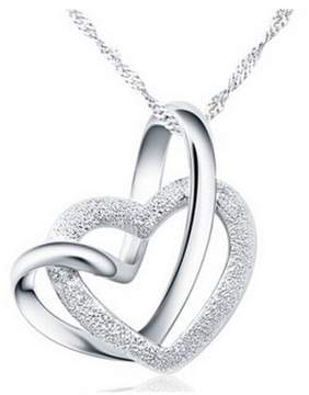 Alpha A A Designer Inspired Intertwined Heart Necklace