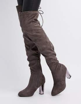 Charlotte Russe Faux Suede Over-The-Knee Boots