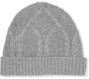 Frame Cable-knit Wool And Cashmere-blend Beanie - Gray