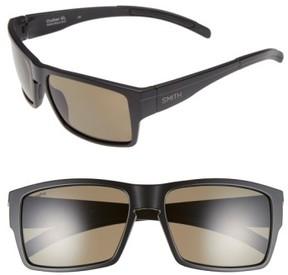 Smith Women's 'Outlier Xl' 56Mm Polarized Sunglasses - Matte Black/ Polarized Green