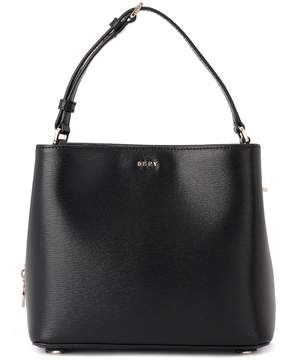 DKNY Bryant Black Leather Bucket Bag