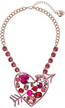 Betsey Johnson Pink Heart Pendant Necklace Necklace