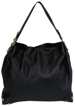 Michael Kors Black Leather Hobo - BLACK - STYLE