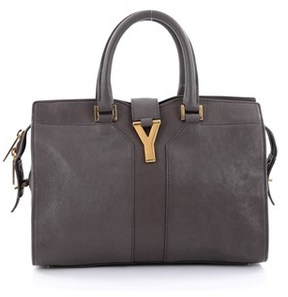 Saint Laurent Pre-owned: Chyc Cabas Tote Leather Small. - GRAY - STYLE