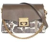 Givenchy GV3 Small Snakeskin Shoulder Bag
