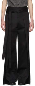 Saint Laurent Black Pleated Trousers