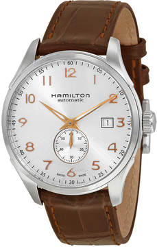 Hamilton Jazzmaster Maestro Automatic Silver Grey Dial Leather Men's Watch