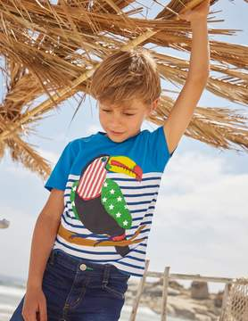 Boden Stripy Applique T-shirt