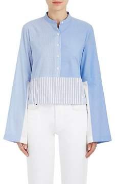 Derek Lam 10 Crosby Women's Solid & Striped Cotton Poplin Crop Blouse