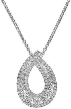 Arabella Swarovski Zirconia Pendant Necklace in Sterling Silver (1-1/4 ct. t.w.)