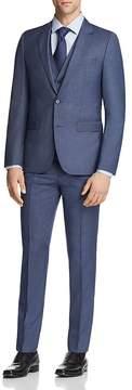 HUGO Astian/Hets Slim Fit Tonal Micro Check 3-Piece Suit