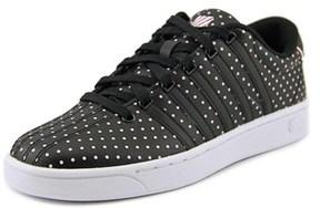 K-Swiss Court Pro Ii Cmfdots Women Round Toe Leather Black Sneakers.