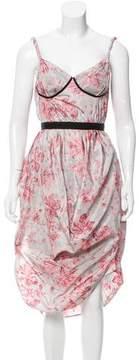 Brock Collection Printed Midi Dress