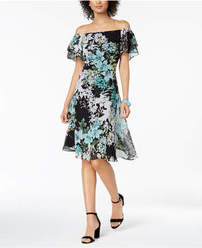 Connected Floral-Print Convertible A-Line Dress