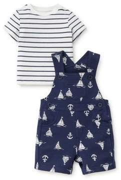 Little Me Baby Boy's Two-Piece Nautical Cotton Tee and Shortall Set