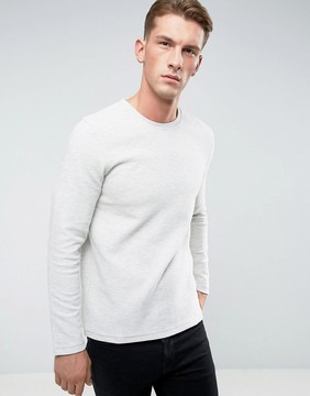 Esprit Sweatshirt in Ribbed Marl