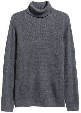 H&M Textured-knit Turtleneck