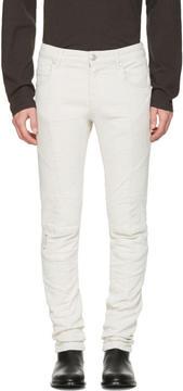 Pierre Balmain Beige Biker Skinny Jeans