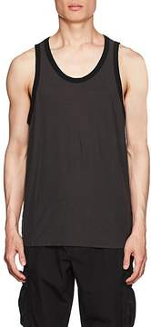 James Perse MEN'S COTTON-LINEN SLUB JERSEY RINGER TANK