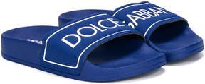 Dolce & Gabbana logo print pool slides