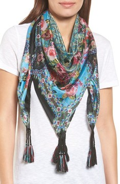 Johnny Was Women's Besimo Silk Square Scarf