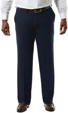 Haggar Big & Tall J.M. Premium Classic-Fit Sharkskin Stretch Flat-Front Suit Pants