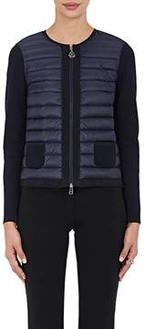 Moncler Women's Down-Quilted Cotton Sweater