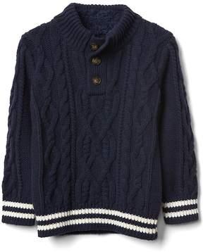 Gap Cozy cable knit mockneck sweater