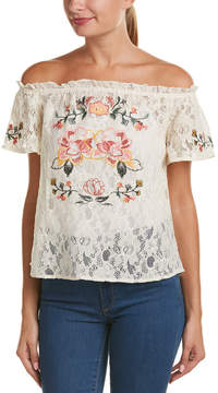 Flying Tomato Off-The-Shoulder Lace Top