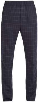 Bottega Veneta Mid-rise slim-leg windowpane-check wool trousers