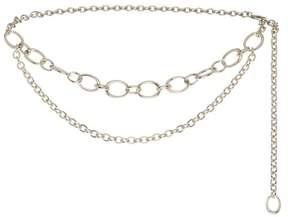 St. John | Metal Chain Link Double Strand Belt | Flash gold